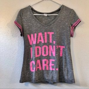 💗 Graphic Tee • Wait I Don't Care